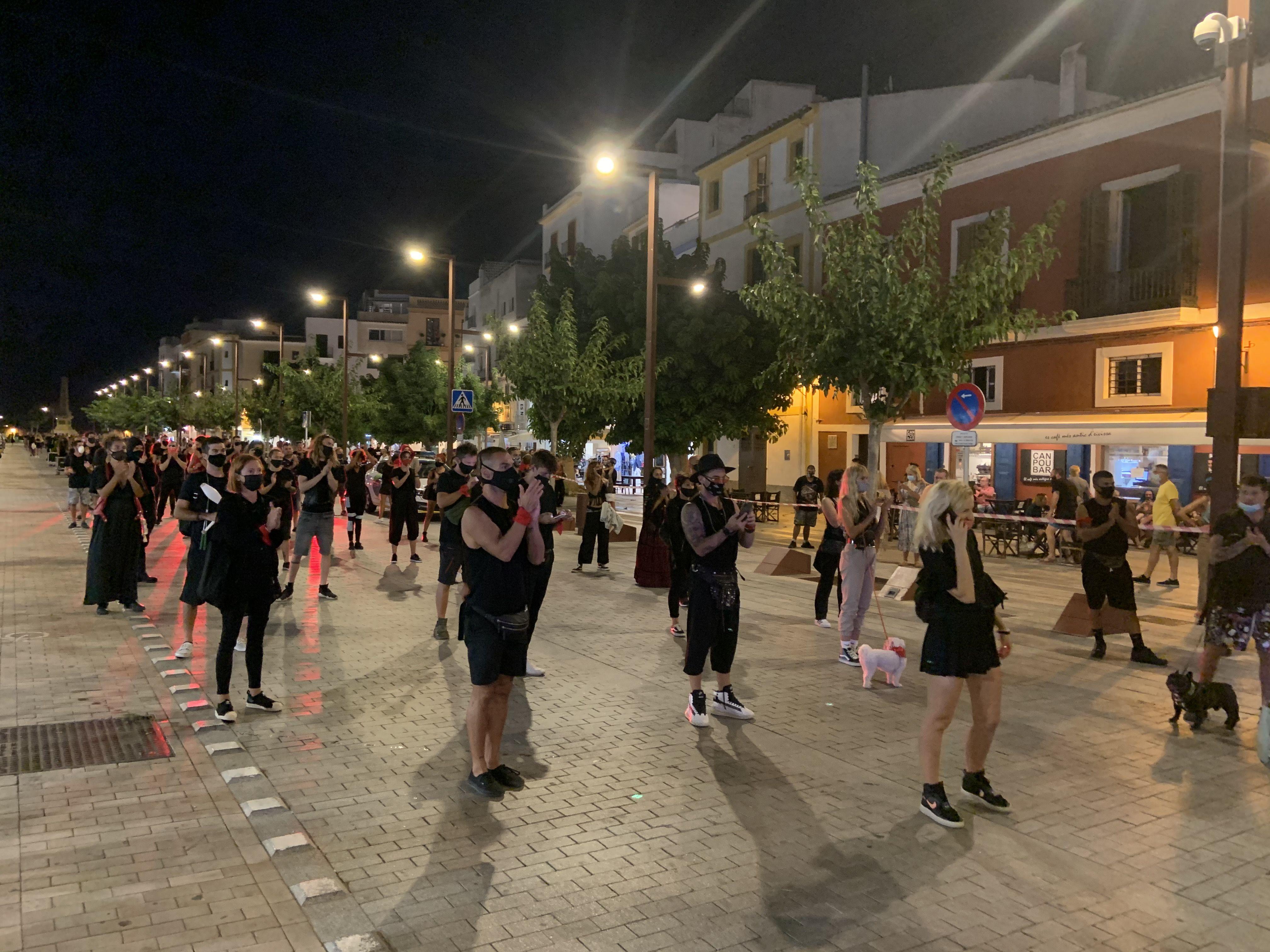 Protesta espectáculos Ibiza